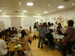 Interaction space for people   evacuated from NPP surrounding area to Iwaki  City, operated by Shapla Neer